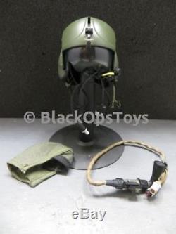 1/6 scale Aviator US Army Apache Pilot Marshall OD Green Flight Helmet Set