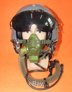 100% Flight Helmet Air Force Pilot Helmet OXYGEN MASK SIZE1# XXL