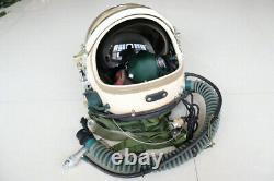 100% Original MiG Fighter Pilot Flight Helmet, pull down black sunvisor