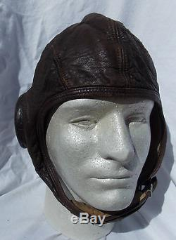 1930s & WW2 USN USMC Pilots Leather Gosport Tube Flight Helmet