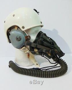 1967 Dtd. Vietnam War USAF Pilot HGU-7 Flight Helmet MBU-5/P Oxygen Mask, Haxby
