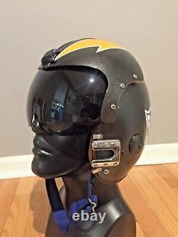 APH-6D Vietnam Navy VF-161 Chargers Jet Pilot Flight Helmet size Large