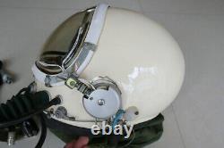 Air Force Aviator Fighter Pilot Flight Helmet & Black Sunvisor