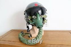 Air Force Aviator MIG Fighter Pilot Flight Helmet, Pull down sunvisor, YM-9915