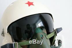 Air Force Aviator MiG-21 Jet Fighter Pilot Flight Helmet, Oxygen Mask