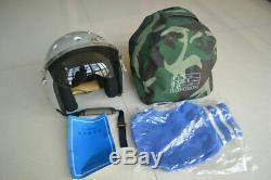 Air Force Fighter Pilot Militaria Aviator Aviation Flight Helmet, Gray Helmet
