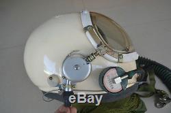 Air Force High Altitude MiG-23 Pilots Helmet, Flight Suit BKK-15K