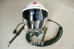 Air Force MiG-21 Fighter Pilot Flight Helmet + Pull Down Sun-visor + Fly suit