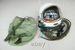 Air Force MiG Fighter Pilot Flight Helmet, Drop-down Black sunvisor + helmet bag