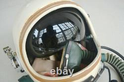 Air Force MiG Fighter Pilot Flight Helmet, drop-down Black Sunvisor