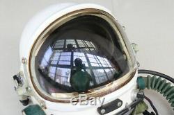 Air Force MiG Fighter Pilot Flight Helmet, high altitude compensating suit