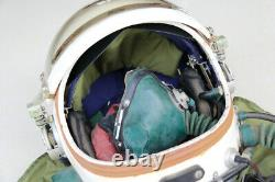 Air Force MiG Fighter Pilot Flight Helmet ++ high altitude compensating suit