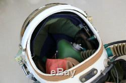 Air Force MiG Fighter Pilot Militaria Aviator Flight Helmet, Anti G Flight Suit