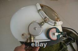 Air Force MiG Jet Pilot Fighter Aviator Flight Helmet, Drop-down Black sunvisor