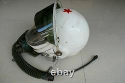 Air force MIG-21 fighter pilot flight helmet, pull down black sunvisor + BKK-15M