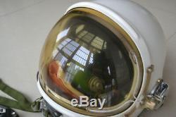 Air force fighter pilot flight helmet- RARE- yellow sun-visor