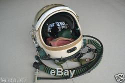 Air force fighter pilot flying helmet, pressure flight suit