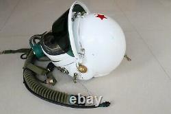 Air force mig -19 fighter pilot flight helmet ++ excellent helmet