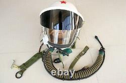 Air force mig-21 fighter pilot flight helmet, pull down black sunvisor + DC Suit