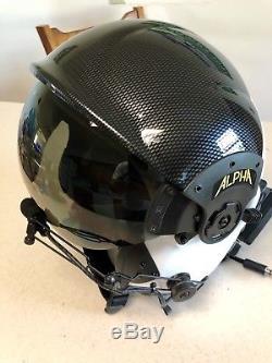 Alpha Eagle Helicopter Pilot Aircrew Flight Helmet Dual Visor (now Gentex)