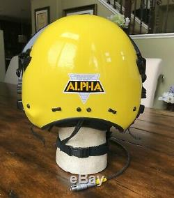 Alpha Gentex 800 Helmet Sar Flight Pilot Diver Winchman Search Rescue Helicopter