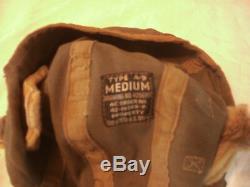 Antique WW2 US Pilot A-9 Med. Cloth Flight Helmet