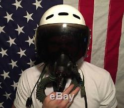 Authentic RUSSIAN MIG Flight Pilot Helmet withOxygen Mask USSR Air Force MiG