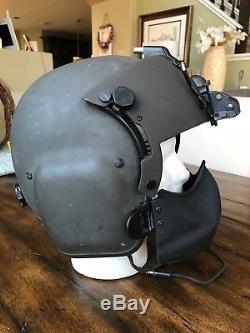 Black Hgu56 Gentex Flight Helmet Nvg, Mfs Shield Hgu 56p Helicopter Pilot Large
