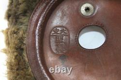 Bonnet hiver de pilote japonais WW2 Japanese army winter flight helmet WWII