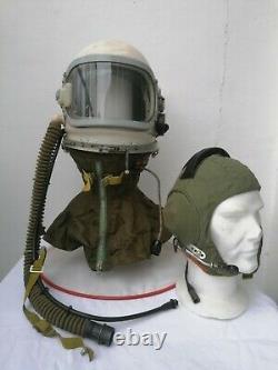 CASCO PILOTA AERONAUTICA RUSSO GSH 6A Set Soviet Pilot Flight Helmet 1967