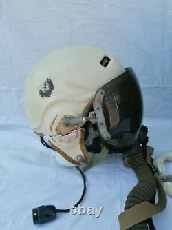 CASCO PILOTA AERONAUTICA RUSSO ZSH 3M KM32 Set Soviet Pilot Flight Helmet 1960