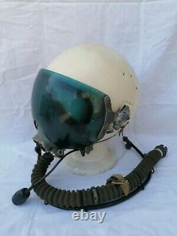 CASCO PILOTA AERONAUTICA RUSSO ZSH 5 KM 34 Set Soviet Pilot Flight Helmet 1967