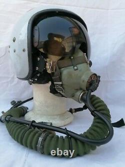 CASCO PILOTA AERONAUTICA RUSSO ZSH 7 KM 34 D Set Soviet Pilot Flight Helmet 1967