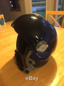 CGF Gallet LH250 Helicopter Coast Guard Blue Pilot Flight Helmet Med not HGU