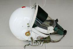 China Air Force Mig-21 Fighter Pilot Flight Helmet Pull Down Black Sunvisor