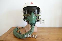 China air force fighter pilot flight helmet, oxygen mask