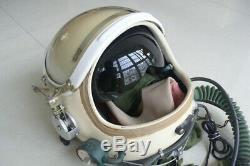 China air force mig-21 fighter pilot flight helmet, black sunvisor