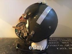 Cold War RAF Mk1A Fighter Pilots Flying Flight Helmet Oxygen Mask Type G NOT WW2