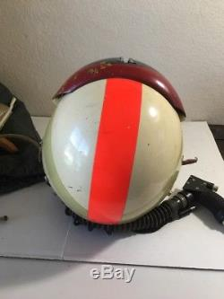 Collection USAF Vintage Flight Pilot Helmet Withoxygen Mask Bag Sierra Eng + Other