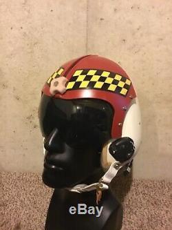 Custom USAF Aggressor Jet Pilot Flight Helmet HGU-26 size Medium