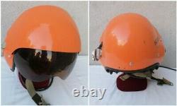 ELMETTO CASCO PILOTA POLACCO AERONAUTICA THL-5-5W NVA DDR Pilot Flight Helmet