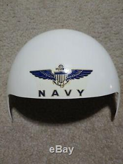 FLIGHT HELMET, pilot helmet, Rams Horn Dual Visor Kit, Lg Gentex, 1980's NIB