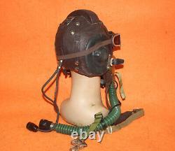 Fighter Pilot Aviation Flight Helmet, Militaria Oxygen Mask Goggles 57# NEW