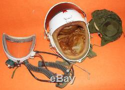 Flight Helmet Aviator Pilot Helmet Oxygen Mask + Hat No Used