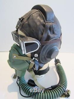 Flight Helmet Fighter Pilot Flight Leather Helmet Oxygen Mask Goggles