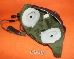 Flight Helmet Fighter Pilot Flight Leather Helmet Oxygen Mask Goggles 57# 6502