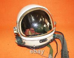 Flight Helmet High Altitude Astronaut Space Pilots Helmet. Flight Suit 1# USED
