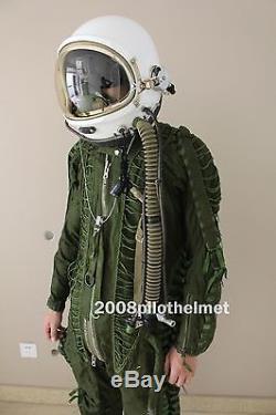 Flight Helmet High Altitude Astronaut Space Pilots Pressured 1#+ Flight Suit 1#