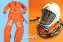 Flight Helmet High Altitude Astronaut Space Pilots Pressured +Flight Suit XXL 00
