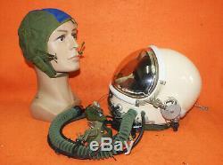 Flight Helmet High Altitude Astronaut Space Pilots Pressured Flying Hat 0720